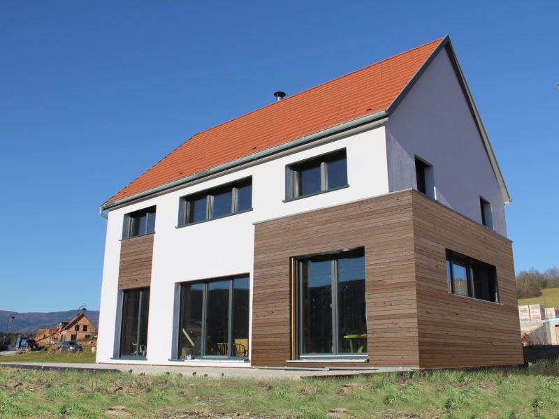 Maison S&V, une maison passive de B.Conception et de Maisos Voegelé