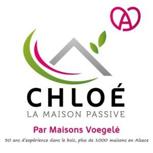 logo de Chloé, la maison passive par Maisons Voegelé