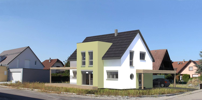 Une maison passive construite par B.Conception et Maisons Voegelé